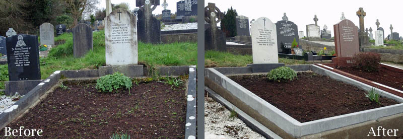 Gravestone cleaning cork